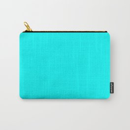 Neon Aqua Blue Bright Electric Fluorescent Color Carry-All Pouch
