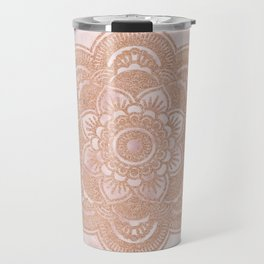Rose gold mandala - pink marble Travel Mug