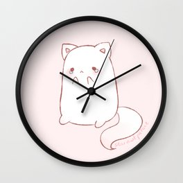 sad kitty Wall Clock