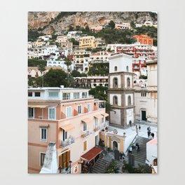 Warm Shades, Positano Canvas Print