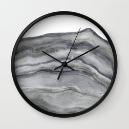 Watercolor Agate in Gray Wall Clock