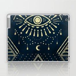 Eye Midnight Gold Laptop & iPad Skin