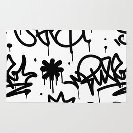 Crowns & Graffiti pattern Rug