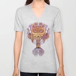 Owl Mandala Unisex V-Neck
