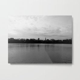 Lakes on the campus of Notre Dame Metal Print