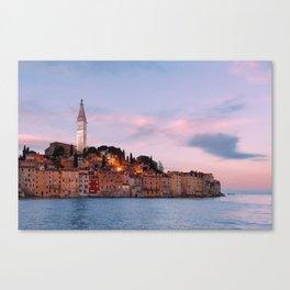 Rovinj at dawn, Croatia Canvas Print