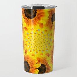 Spinning Sunflowers Travel Mug