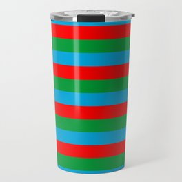 Azerbaijan flag stripes Travel Mug