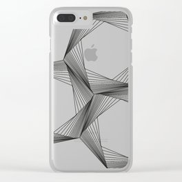crazy hexagons Clear iPhone Case