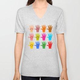 Happy Hands Unisex V-Neck