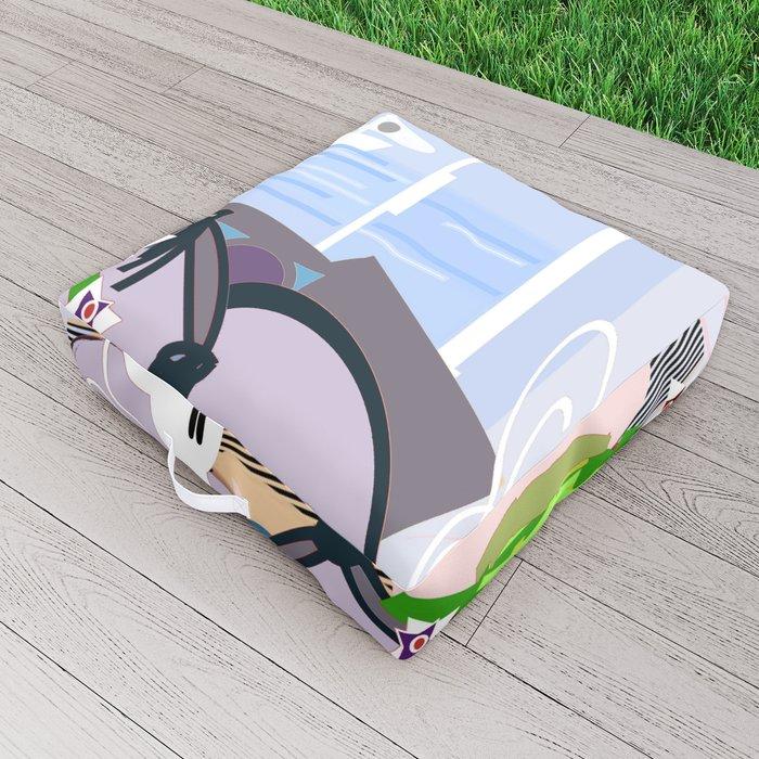 The Lilac room Outdoor Floor Cushion