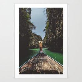Long Tail in the Lagoon Art Print