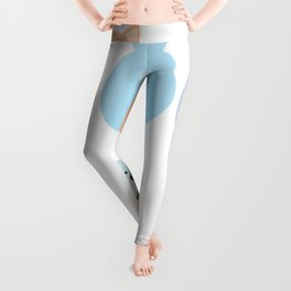 set funny cats, pastel colors on white background Leggings