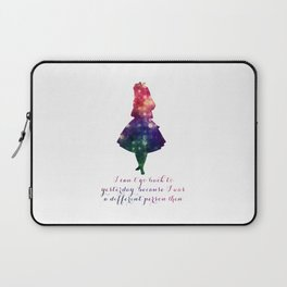 Alice can't go back to yesterday Laptop Sleeve
