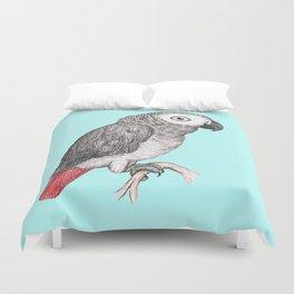 Cute African grey parrot Duvet Cover