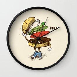 Burger Greeting Wall Clock