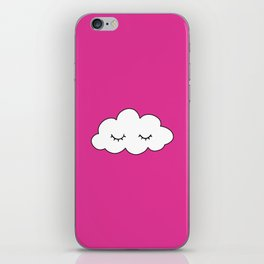Dreaming cloud in pink background iPhone Skin