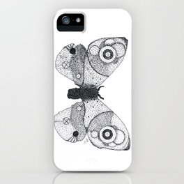 Pointillism Moth iPhone Case