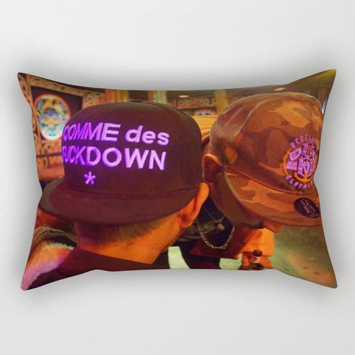 Hat2Hat Rectangular Pillow