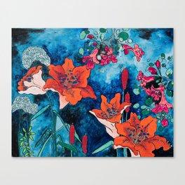 Blooming Night Garden: Twilight Canvas Print
