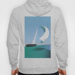 Yacht Sailing Poster Hoody