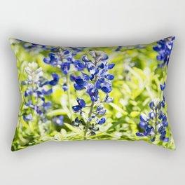 Texas Bluebonnet Up Close Rectangular Pillow