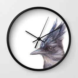 Steller's Jay | Watercolour | Painting | CYANOCITTA STELLERI | Animal Wall Clock