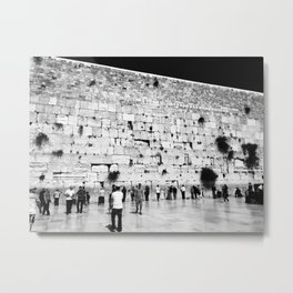 The Western Wall in the Old City, Jerusalem, Israel Metal Print