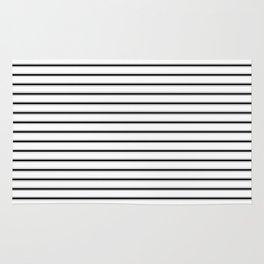 BLACK TICKING STRIPES (Horizontal) - Mix & Match Rug
