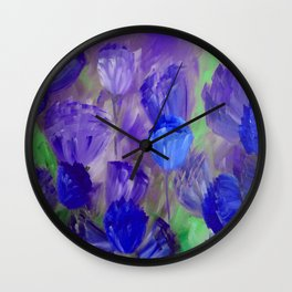 Breaking Dawn in Shades of Deep Blue and Purple Wall Clock