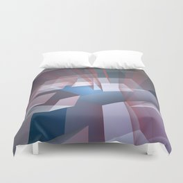 Kissing the sky, geometric fractal abstract Duvet Cover
