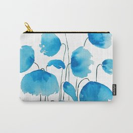blue poppy field watercolor Carry-All Pouch