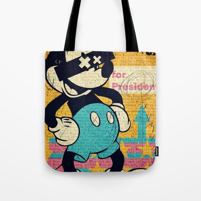 tricky mickey tote bag by aleczg society6