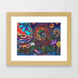 Weed Crossing Framed Art Print