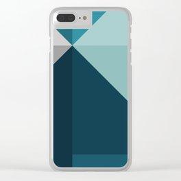 Geometric 1702 Clear iPhone Case