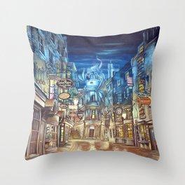 Breach to Diagon Alley Throw Pillow