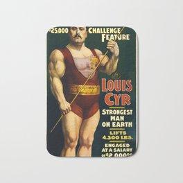 Louis Cyr, Strongest Man on Earth Bath Mat