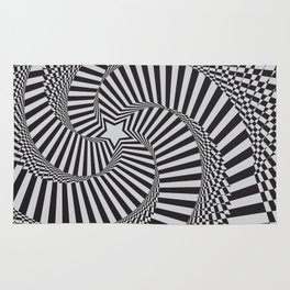 Abstract background with optical effect Rug