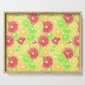Lemon, orange, grapefruit and lime slices pattern design by katerinamitkova