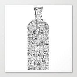 Drinks Full Tag Cloud Canvas Print