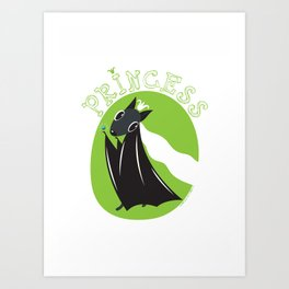 Bat Princess Art Print