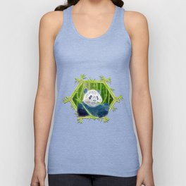 abstract panda Unisex Tank Top
