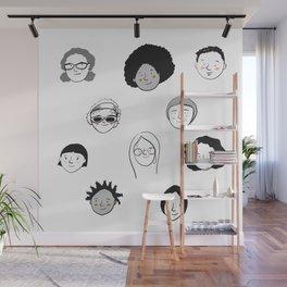 Women's faces Wall Mural