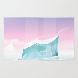Arctic landscape. Rug