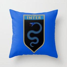 Milan Blue Badge Throw Pillow
