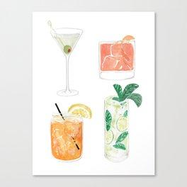 Colorful cocktails Canvas Print