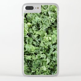 Shredded kale Clear iPhone Case