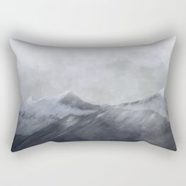 happy in the mountains Rectangular Pillow