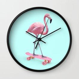 SKATE FLAMINGO Wall Clock