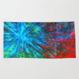 Abstract Big Bangs 001 Beach Towel